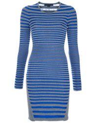 Alexander Wang | Gray Stripe Dress | Lyst
