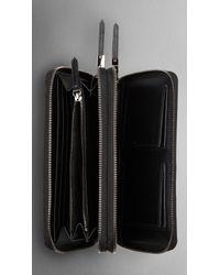 Burberry Black Ziparound Clutch Bag for men