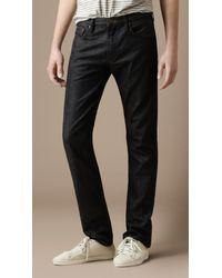 Burberry Brit - Blue Cavendish Straight Leg Jeans for Men - Lyst