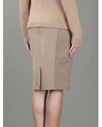 Burberry Natural Pencil Skirt