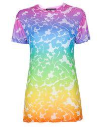 Christopher Kane Multicolor Rainbow Lace Print T-shirt