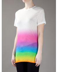 Christopher Kane White Rainbow T-shirt