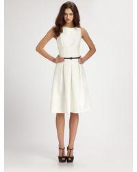 David Meister - White Belted Dance Dress - Lyst