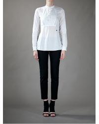 DSquared² White Cotton Blouse