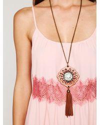Free People | Pink Lace Stripes Maxi Dress | Lyst