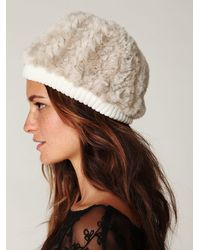 Free People | Natural Serbian Fur Beanie | Lyst
