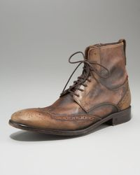 John Varvatos | Brown Wing-tip Boot for Men | Lyst