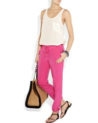 Juicy Couture - Pink Silk Track Pants - Lyst