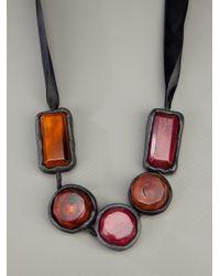 Marni Black Chunky Bead Necklace