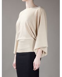 Ralph Lauren Black Label Natural Kimono Sleeve Top