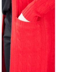 Ralph Lauren Red Long Cardigan