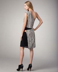 Sachin & Babi - Multicolor Isis One-shoulder Snake-print Dress - Lyst