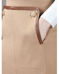 Tory Burch Natural Flap Detail Skirt