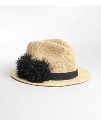 Tory Burch | Natural Raffia Pom Pom Hat | Lyst
