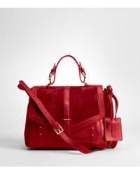 Tory Burch Red 797 Suede Messenger Bag