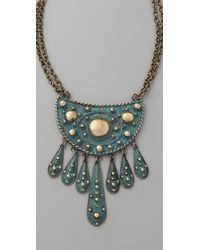 Vanessa Mooney | Green Cleodora Short Necklace | Lyst