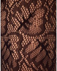 Wolford - Black Spring Leaf Net Tights - Lyst