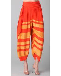 3.1 Phillip Lim - Orange Waist Tie Sequin Gaucho Pants - Lyst