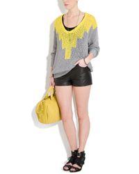 Alexander Wang | Yellow Hand Knit Intarsia Sweater | Lyst