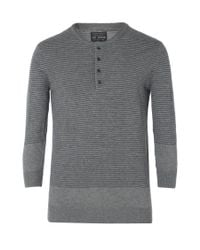 AllSaints | Gray Anton Grandad for Men | Lyst