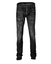 Balmain | Gray Grey Vintage Denim Jeans for Men | Lyst