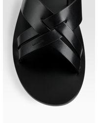 Dior Homme - Black Leather Sandal for Men - Lyst