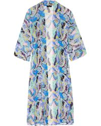 Etro | Multicolor Printed Silk-chiffon Beach Robe | Lyst