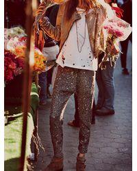 Free People | Gray Mermaid Sequin Harem Pants | Lyst