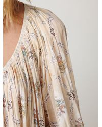 Free People | Natural Fp One Summer Lace Peasant Top | Lyst