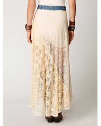 Free People - White Lace Rodeo Skirt - Lyst