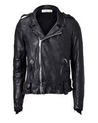 Golden Goose Deluxe Brand - The Rivet Black Vintage Leather Jacket for Men - Lyst