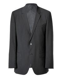 HUGO | Gray The Aamon/hago Dark Grey Fine Striped Wool Jacket for Men | Lyst