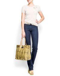 Mango - White Knit Short Sleeves Jumper - Lyst