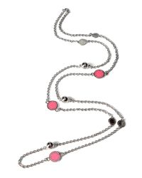 Marc By Marc Jacobs | Metallic Silver and Pink Marc Wrap Necklace | Lyst