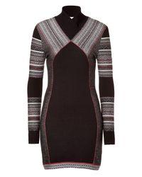 Matthew Williamson   Black Paneled Knit Dress   Lyst