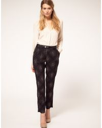 Oasis | Brown Heart Trousers | Lyst