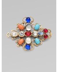 Oscar de la Renta - Multicolor Multi-colored Filigree Pin - Lyst