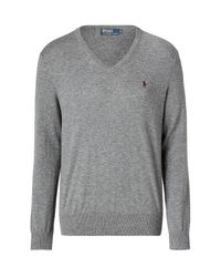 Polo Ralph Lauren | Gray Grey Mélange New Geelong V-neck Pullover for Men | Lyst