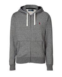 Polo Ralph Lauren | Gray Pepper Heather Seasonal Fleece Hoodie Jacket for Men | Lyst