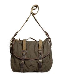 Polo Ralph Lauren | Natural Loden Canvas and Leather Creek Messenger Bag for Men | Lyst