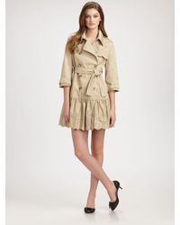 RED Valentino | Natural Embroidered Trenchcoat | Lyst