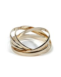 R.j. Graziano | Metallic Gold Criss Cross Cuff | Lyst