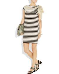 Rochas | Natural Striped Cotton Dress | Lyst
