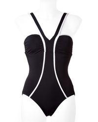 Spanx | Black One-piece Halter Swimsuit | Lyst