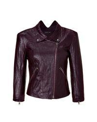 Theyskens' Theory | Purple Bordeaux Motor Leather Jacket | Lyst