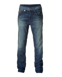 True Religion | Vince Super T Blue Washed Jeans for Men | Lyst