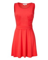 Vanessa Bruno Athé | Red Hot Coral Tank Dress | Lyst