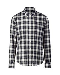 Vince | Black Plaid Military Button Down Shirt - Slim Fit for Men | Lyst