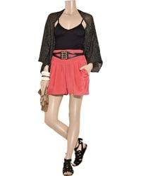 Antik Batik | Purple Jana Washed-silk Shorts | Lyst