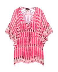 Antik Batik | Pink Julian Printed Silk-chiffon Top | Lyst